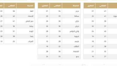 Photo of الأرصاد أعلنت حالة الطقس الثلاثاء الموافق 5/5/2020 وهطول أمطار على 8 مناطق