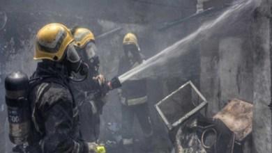 صورة حريق في الأحساء نتيجة اختبار تسرب الغاز
