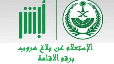 Photo of استعلام عن بلاغ هروب برقم الإقامة وزارة الداخلية