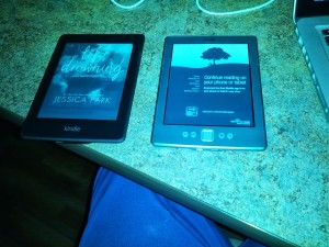 The Kindle and Kindle Paperwhite.