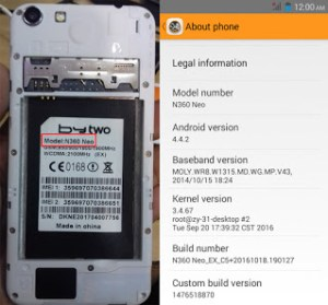 bytwo n360 neo flash file