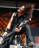 Anthrax performs on the Jagermeister Stage during Mayhem Festival at Klipsch Music Center in Noblesville, Ind. on Sunday, July 15, 2012. (Photo by Rachael Mattice/Journal & Courier)