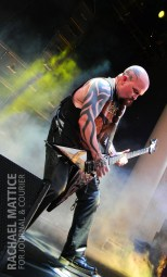 Slayer performs on the Main Stage during Mayhem Festival at Klipsch Music Center in Noblesville, Ind. on Sunday, July 15, 2012. (Photo by Rachael Mattice/Journal & Courier)