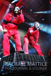 Slipknot headlines the Main Stage during Mayhem Festival at Klipsch Music Center in Noblesville, Ind. on Sunday, July 15, 2012. (Photo by Rachael Mattice/Journal & Courier)