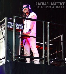 Andrew W.K. opens for Black Sabbath at Klipsch Music Center in Noblesville, Ind. on Sunday, August, 18, 2013. (Photo by Rachael Mattice/Journal & Courier)