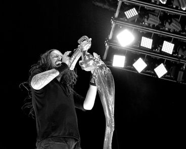 Korn performed on the main stage at Mayhem Festival at the San Manuel Amphitheater in San Bernardino, Calif. on Saturday, July 5, 2014. (All photos taken by and belong to Rachael Mattice/OC Weekly, Metal Insider)