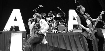 Asking Alexandria performed on the main stage at Mayhem Festival at the San Manuel Amphitheater in San Bernardino, Calif. on Saturday, July 5, 2014. (All photos taken by and belong to Rachael Mattice/OC Weekly, Metal Insider)