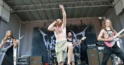 Wretched performed on the Victory Records Stage at Mayhem Festival at the San Manuel Amphitheater in San Bernardino, Calif. on Saturday, July 5, 2014. (All photos taken by and belong to Rachael Mattice/OC Weekly, Metal Insider)
