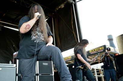 Cannibal Corpse performed on the Coldcock Whiskey stage at Mayhem Festival at the San Manuel Amphitheater in San Bernardino, Calif. on Saturday, July 5, 2014. (All photos taken by and belong to Rachael Mattice/OC Weekly, Metal Insider)