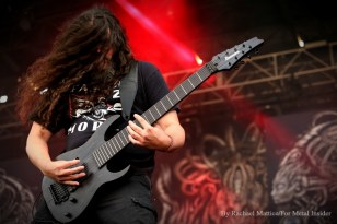 """""""Meshuggah guitarist Mårten Hagström performs at Chicago Open Air music festival on Friday, July 14, 2016 at Toyota Park in Bridgeview, Ill. Photo by Rachael Mattice/For Metal Insider."""""""