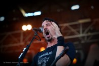 """""""Gojira vocalist and guitarist Joe Duplantier performs at Chicago Open Air music festival on Saturday, July 15, 2016 at Toyota Park in Bridgeview, Ill. Photo by Rachael Mattice/For Metal Insider."""""""