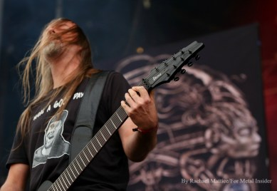 """""""Meshuggah guitarist Fredrik Thordendal performs at Chicago Open Air music festival on Friday, July 14, 2016 at Toyota Park in Bridgeview, Ill. Photo by Rachael Mattice/For Metal Insider."""""""