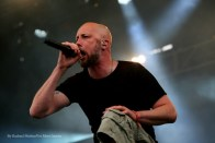 """""""Meshuggah vocalist Jens Kidman performs at Chicago Open Air music festival on Friday, July 14, 2016 at Toyota Park in Bridgeview, Ill. Photo by Rachael Mattice/For Metal Insider."""""""