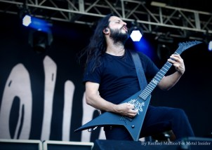 """""""Gojira guitarist Christian Andreu performs at Chicago Open Air music festival on Saturday, July 15, 2016 at Toyota Park in Bridgeview, Ill. Photo by Rachael Mattice/For Metal Insider."""""""