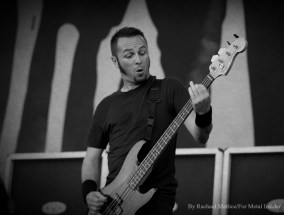 """""""Gojira bassist Jean-Michel Labadie performs at Chicago Open Air music festival on Saturday, July 15, 2016 at Toyota Park in Bridgeview, Ill. Photo by Rachael Mattice/For Metal Insider."""""""
