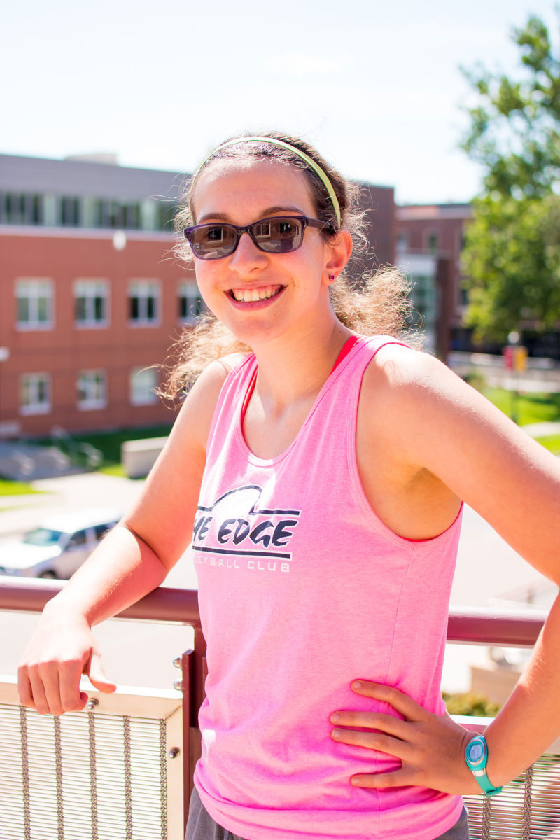 """Grinnell College first-year student Jacey Birkenmeyer is surprised to have to be thinking about careers when she only just got through the college-application process. But she doesn't know yet what she wants to do for a living, so, """"I like that we're starting this now."""""""