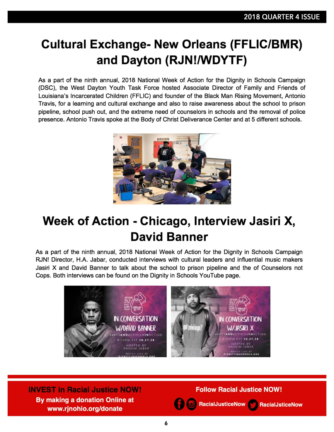 4f6a89e0a4082 Racial Justice NOW! 2018 Wrap Up Newsletter