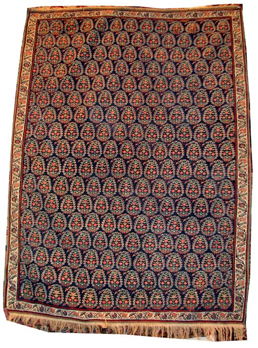 116 Senneh kilim with botehs