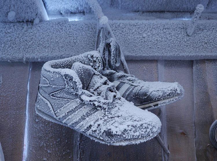 Замороженная обувь