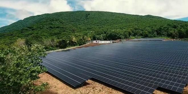 Солнечные панели на острове