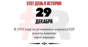 День в истории 29 декабря