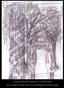 Gateway to another realm - Pencil - Digitally Framed