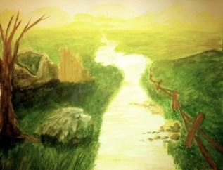 Landscape Watercolor Study