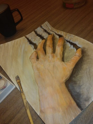 Torn - Watercolor on Paper -WIP