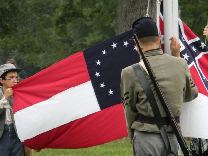 Saturday's flag ceremony