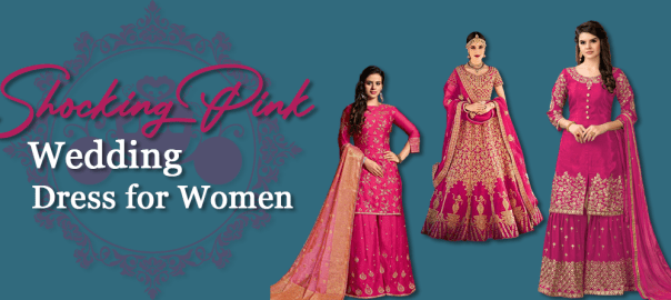 Shocking Pink Dresses Pakistani