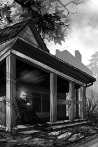 Art by Bonnie Wasson for the new edition of Haunting Blue.