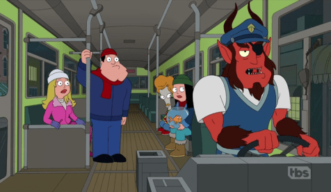 American Dad with Krampus