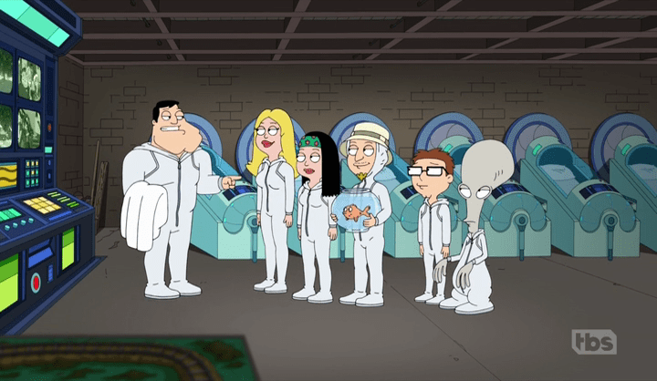 The Smith Family prepares to ride out Christmas in stasis on American Dad