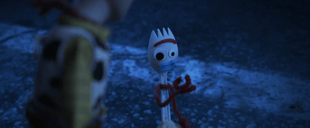 Forky, the new toy in Toy Story
