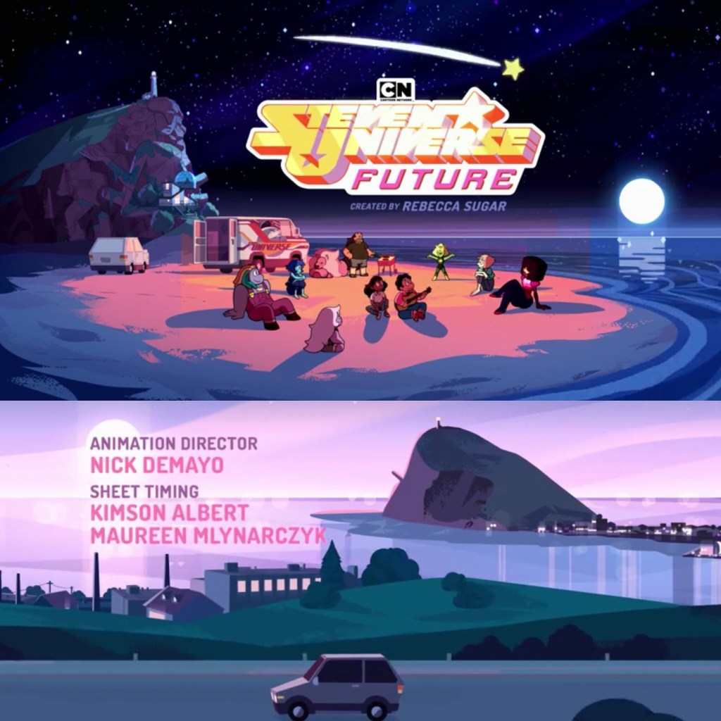 Steven Universe Future Title and Credit Cards