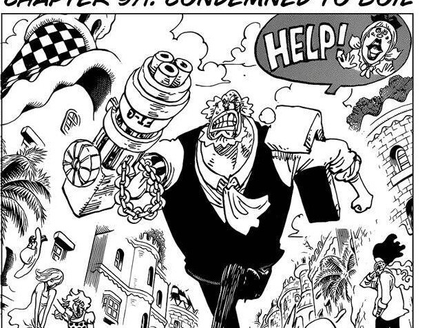 One Piece Chapter 971 Cover Page