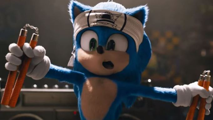 Sonic the Hedgehog in his new movie