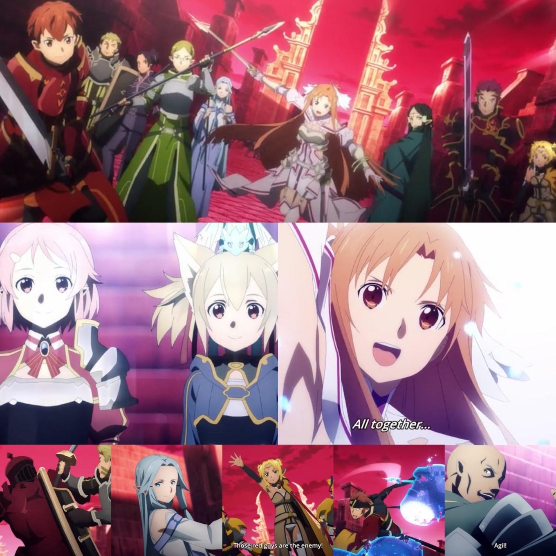 Sword Art Online: Alicization- War of Underworld Episode 38- End to Eternity Allies Unite