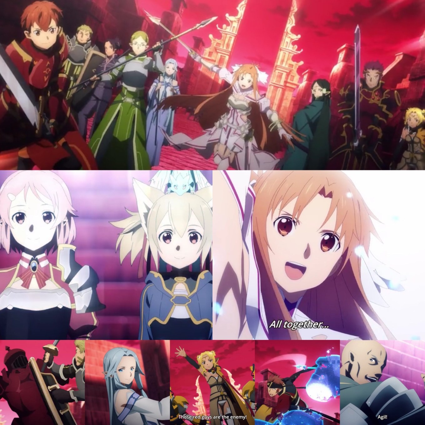 Sword Art Online: Alicization- War of Underworld Episode 38- End to Eternity Allies Unite