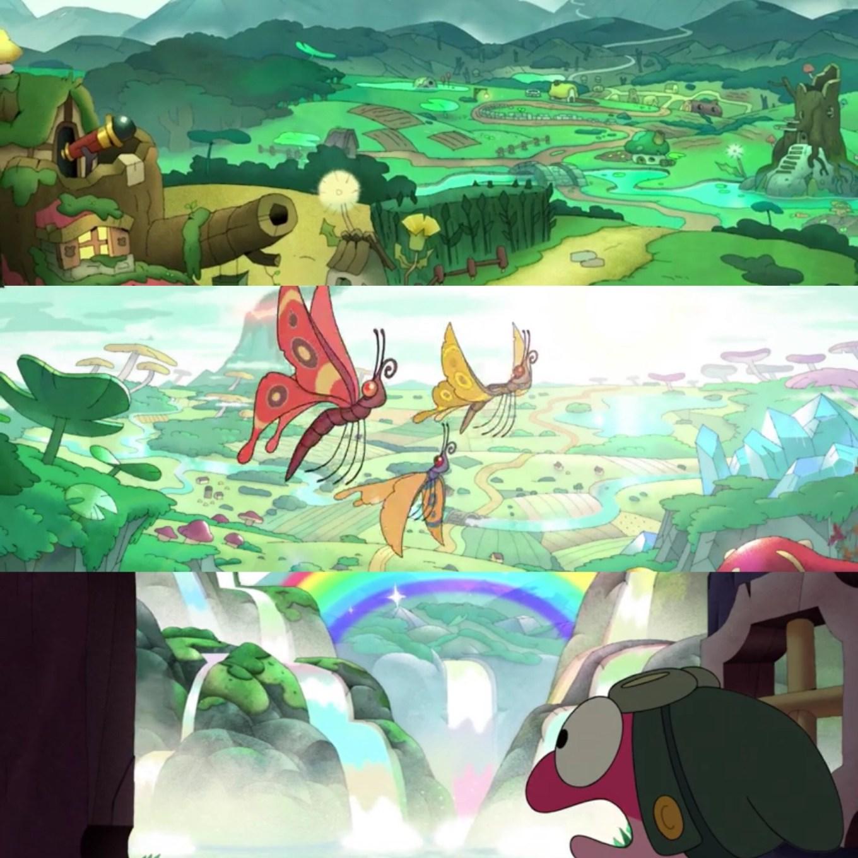 Amphibia Season 2, Episodes 1A/1B- The scenery