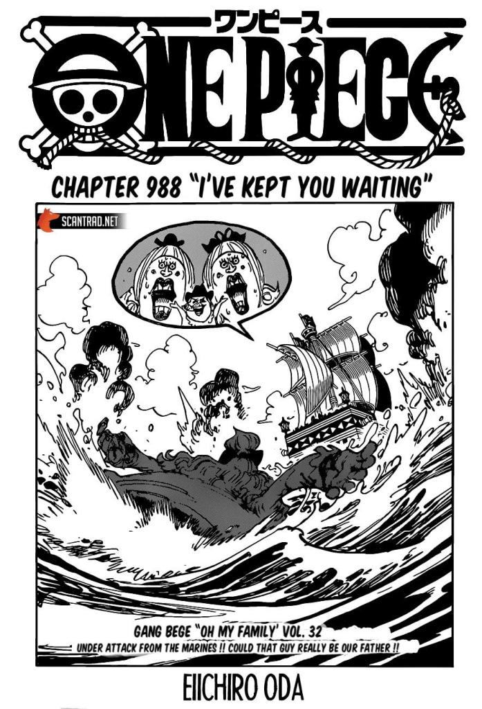 One Piece Chapter 988 Cover Page