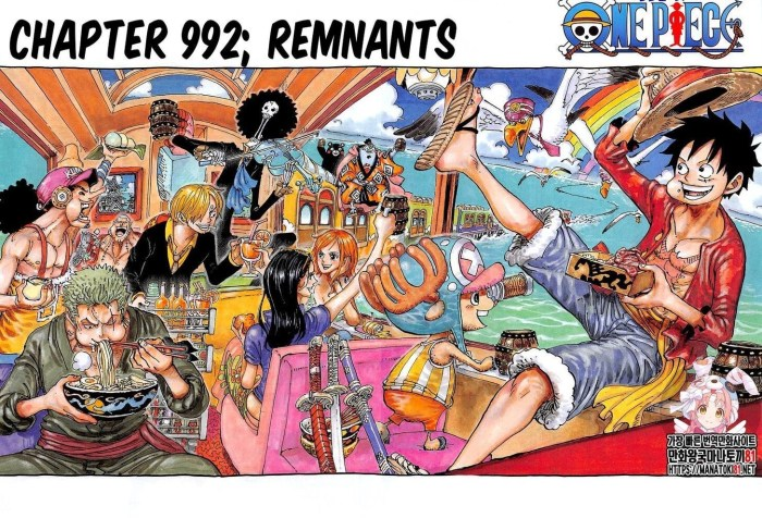 One Piece Chapter 992 Cover Page