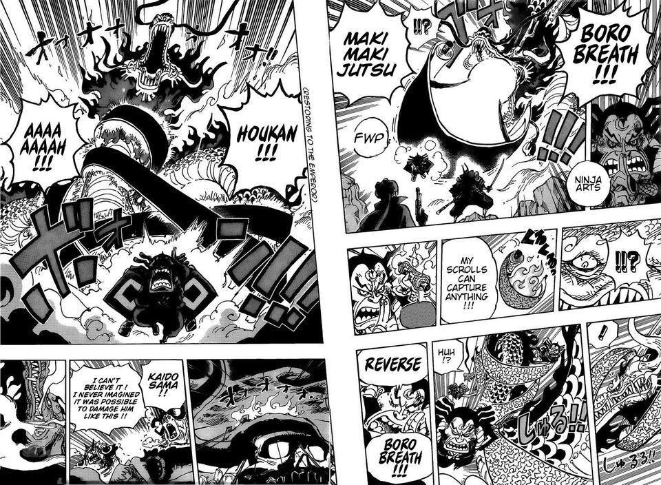 One Piece Chapter 992-Ninja Art (Naruto Reference)