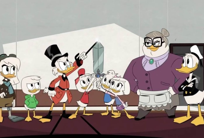 DuckTales Season 3, Episode 13-Escape from the Impossibin, Duck Family as One