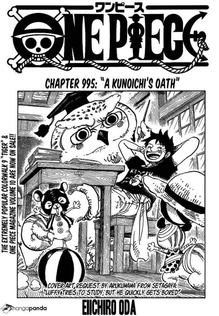 One Piece Chapter 995 Cover Page