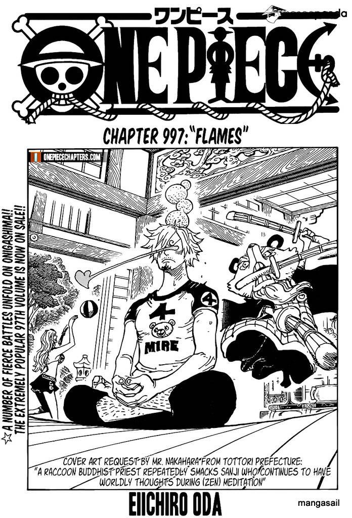 One Piece Chapter 997 Cover Page