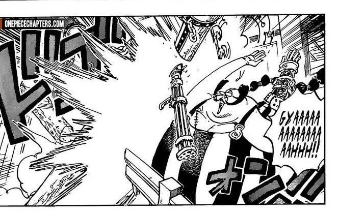 One Piece Chapter 997-Queen's Gun Gets Destroyed