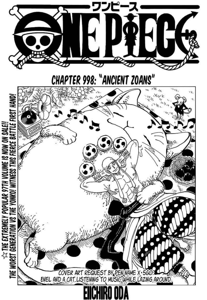 One Piece Chapter 998 Cover Page