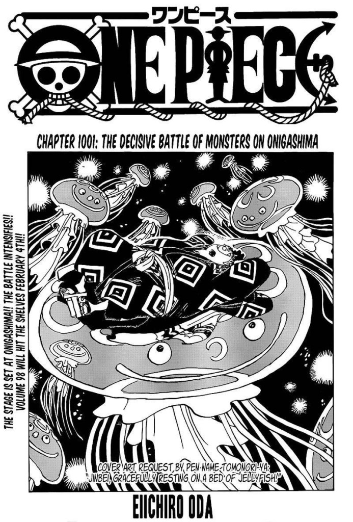 One Piece Chapter 1001 Cover Page