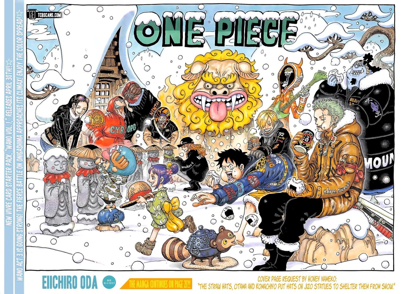 One Piece Chapter 1009 Cover Page